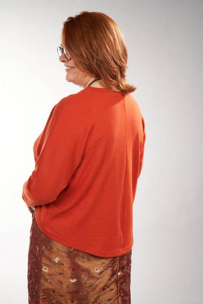 OsteDesign Merinopullover Este orange