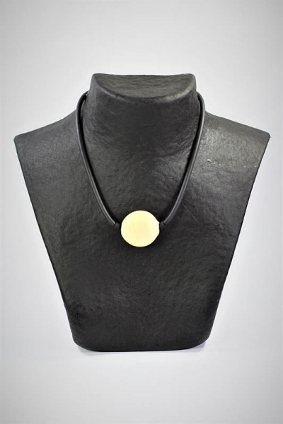 Halskette aus Muranoglas beige