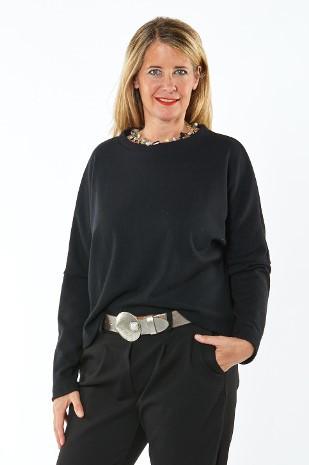 Pullover aus 100% Merino schwarz