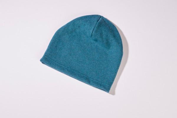 Mütze aus 100% Merinowolle in Petrol