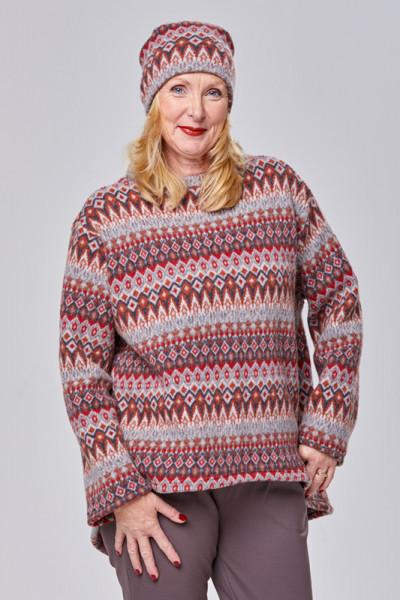 Merino-Pullover mit schönem Norweger-Muster