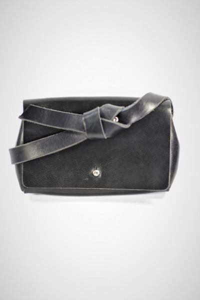 Gürteltasche aus Leder in schwarz