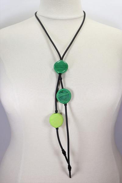 Lange Halskette aus Muranoglas grün