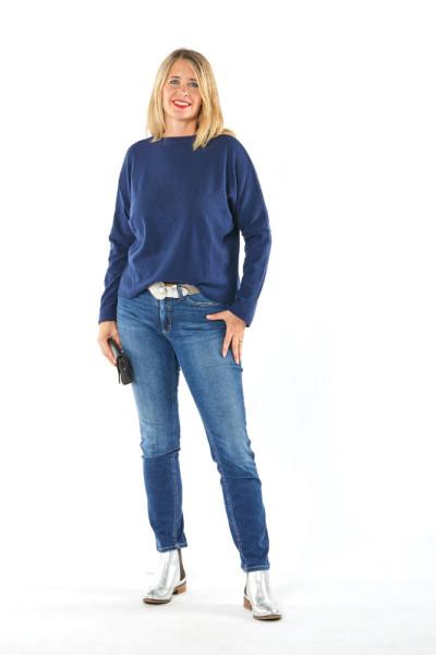 Pullover aus 100% Merino marine