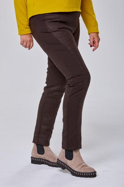 Damenhose aus Shetland-Wolle mit einem Stretchstreifen