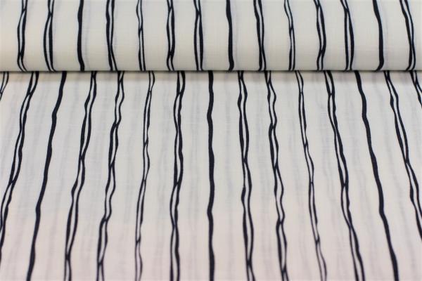 Baumwolle Streifen weiß blau