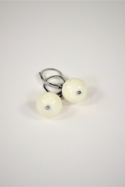 Ohrringe aus Muranoglas weiß