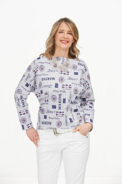 Baumwolljersey-Shirt Maritim