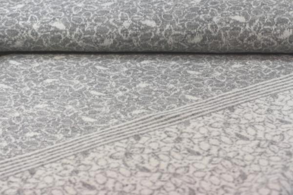 Merino Jacquard grau/weiß