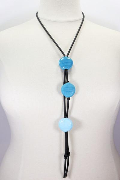 Lange Halskette aus Muranoglas blau