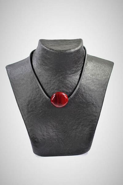 Halskette aus Muranoglas dunkelrot