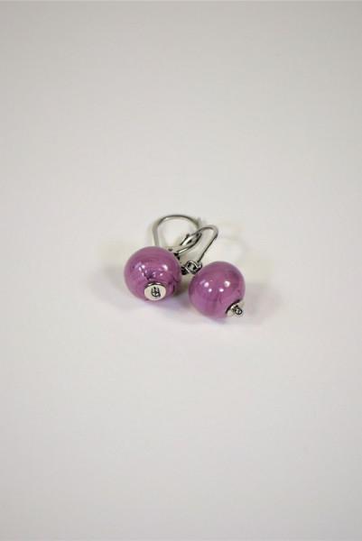 Ohrringe aus Muranoglas violett