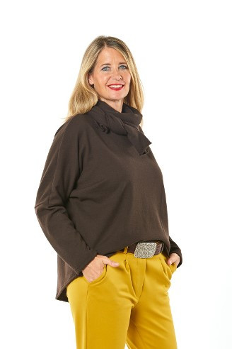 Pullover aus 100% Merino braun