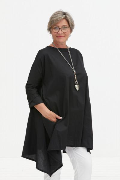 Schwarze Tunika aus Baumwolle