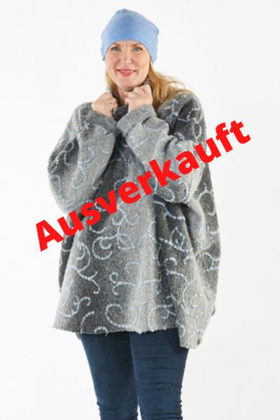 Poncho-Pullover Winterzeit- AUSVERKAUFT