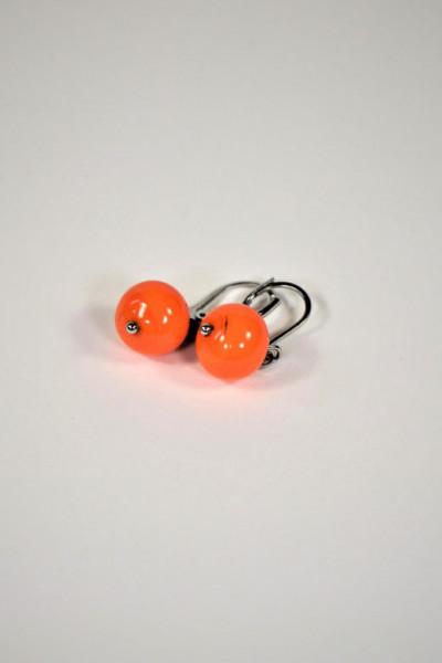 Ohrringe aus Muranoglas orange