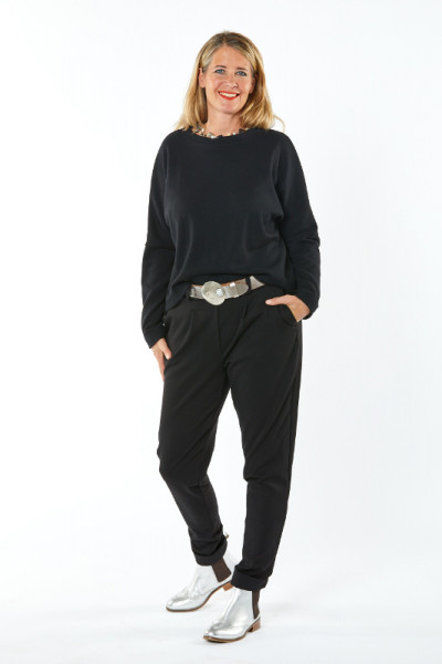 Jersey-Hose / Romanit schwarz