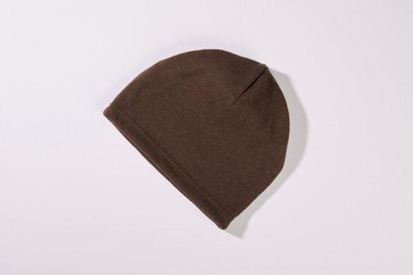 Mütze aus 100% Merinowolle in Braun