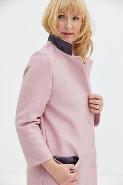 Walkmantel rosa für den Winter