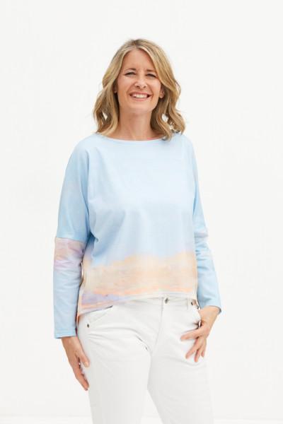 Baumwolljersey-Shirt hellblau