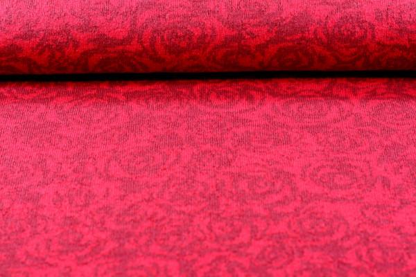 Merino Jacquard Rose rot