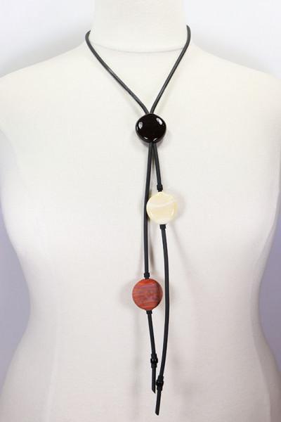 Lange Halskette aus Muranoglas braun