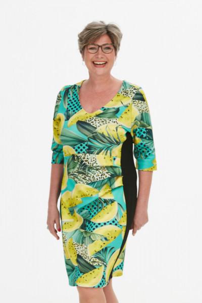 Jersey-Bonding Kleid - Das gelbe Früchtchen