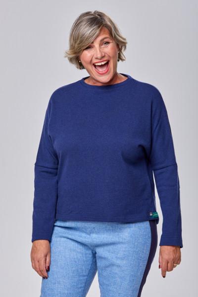 Pullover aus 100% Merinowolle in einem kräftigen Blau