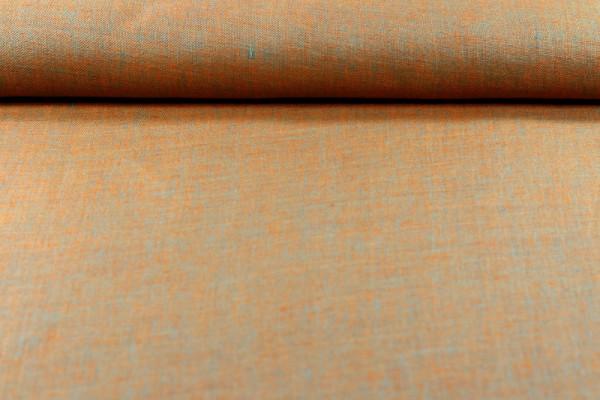 Leinen zweifarbig orange türkis