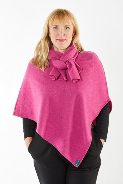 OsteDesign Merino Poncho-Braak
