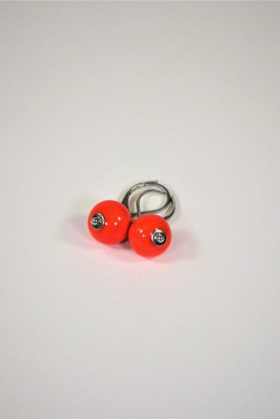 Ohrringe aus Muranoglas rot
