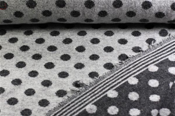 Tupfen grau Punkte 100 % Wolle