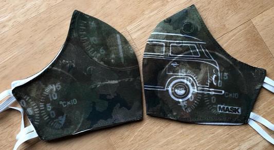 Mund-Nasen-Maske - Camouflage Bus 1