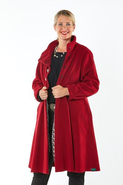 Mantel Wollmischung Schurwolle/Kashmir rot