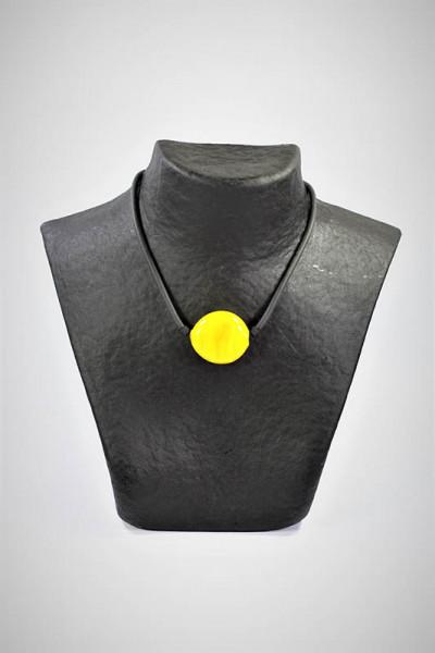 Halskette aus Muranoglas gelb