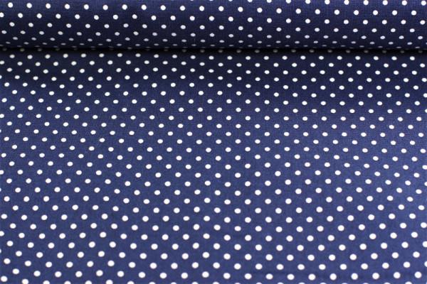 Baumwolle Punkte blau weiß