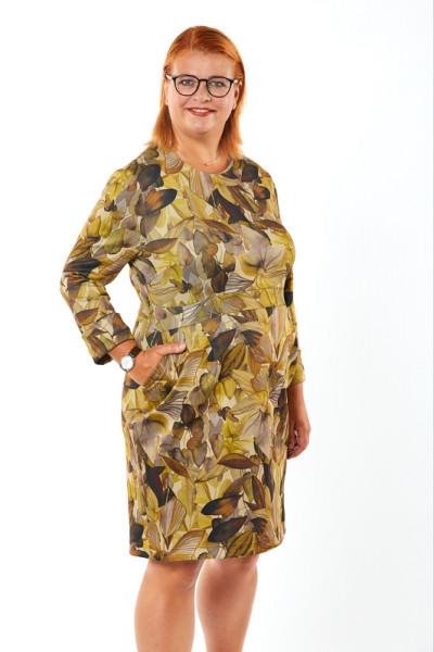 Kleid Herbststimmung Curry