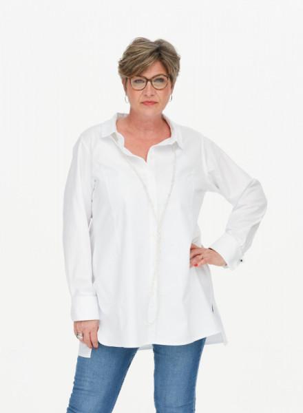 Hemdbluse aus Oxfordbaumwolle weiß
