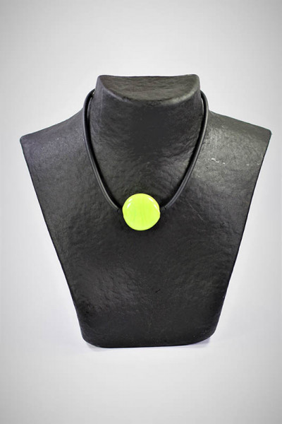 Halskette aus Muranoglas lindgrün