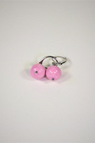 Ohrringe aus Muranoglas rosa