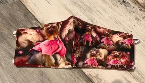 Mund-Nasen-Maske - Hund Terrier