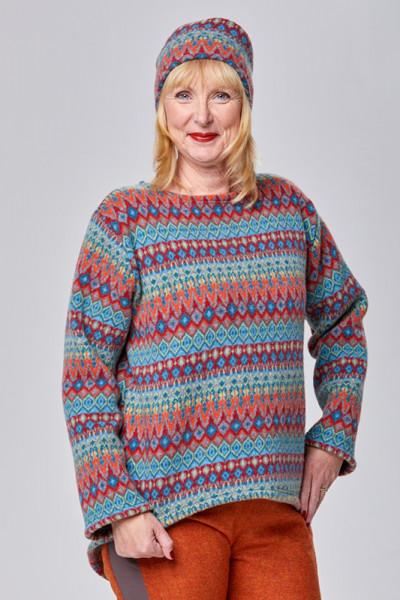 Kuscheliger Merino-Pullover mit tollem Norweger-Mix-Muster