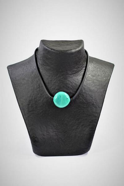 Halskette aus Muranoglas türkis