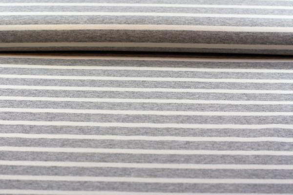 Ringeljersey grau weiß