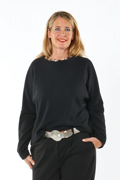 Pullover aus schwarzer Merinowolle