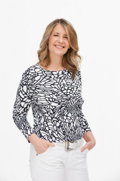 Baumwolljersey-Shirt Black and White
